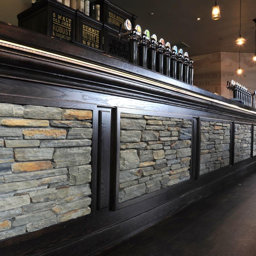 schist stone bar