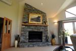 schist indoor fireplace